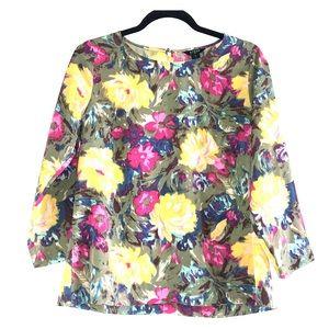 J. Crew Floral Blouse Shirt